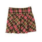 Pickstitched Plaid Pleated Skort