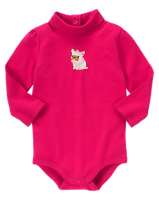 Chic Pink Fancy Puppy Turtleneck Bodysuit/Tee Shirt by Gymboree