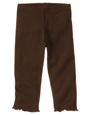 Toddler Girls Forest Brown Legging by Gymboree