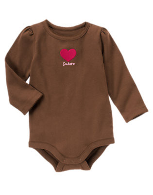 Coco Brown J'adore Heart Bodysuit/Tee Shirt by Gymboree