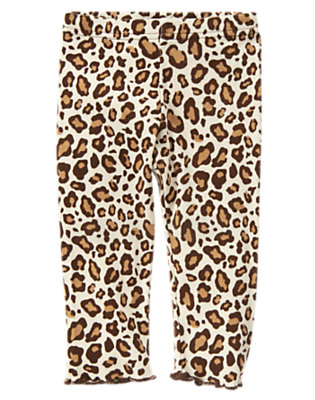 Toddler Girls Ivory Leopard Leopard Legging by Gymboree