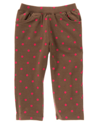 Coco Brown Dot Dot Knit Pant by Gymboree