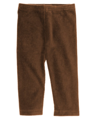 Toddler Girls Coco Brown Velour Legging by Gymboree