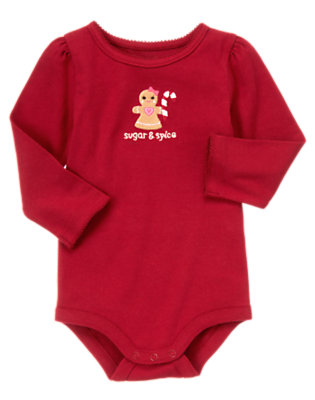 Cranberry Red Gingerbread Girl Bodysuit/Tee Shirt by Gymboree