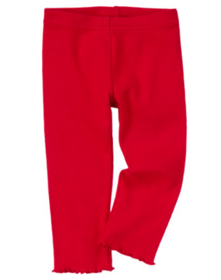 Toddler Girls Cheery Red Legging by Gymboree