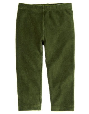 Toddler Girls Juniper Green Velour Legging by Gymboree