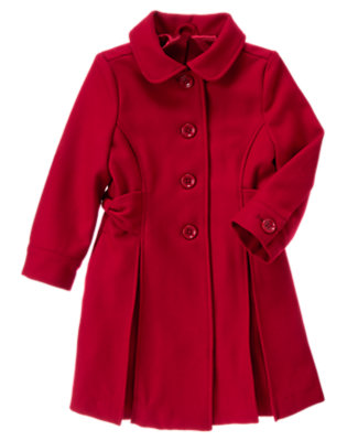 Girls Holiday Red Bow Dress Coat by Gymboree