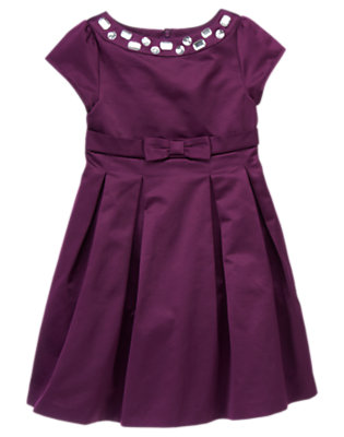 Girls Princess Purple Gem Taffeta Dress by Gymboree