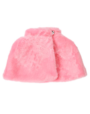 Girls Poodle Pink Faux Fur Capelet by Gymboree