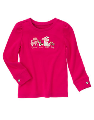 Chic Pink Fancy Dogs Tee by Gymboree