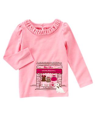 Poodle Pink Très Chic Shop Tee by Gymboree