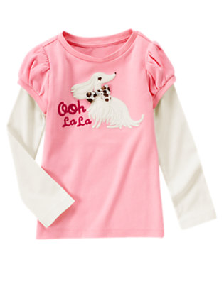 Poodle Pink Ooh La La Dog Double Sleeve Tee by Gymboree