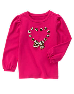 Chic Pink Leopard Heart Tee by Gymboree