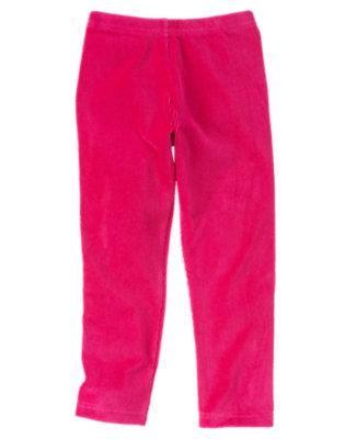 Girls Chic Pink Velour Legging by Gymboree