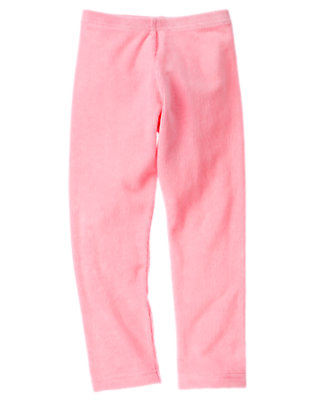 Poodle Pink Velour Legging by Gymboree