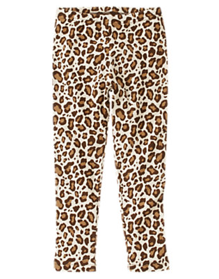 Girls Ivory Leopard Leopard Legging by Gymboree
