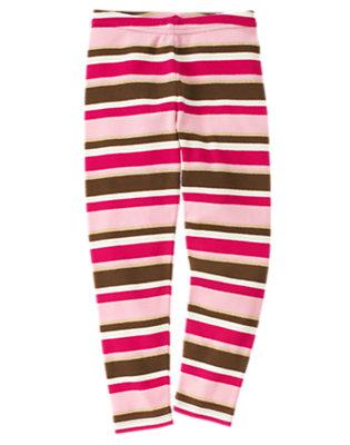 Girls Poodle Pink Stripe Stripe Legging by Gymboree