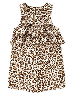 Girls Ivory Leopard Leopard Ruffle Corduroy Jumper by Gymboree