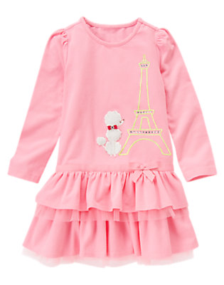 Girls Poodle Pink Gem Poodle Eiffel Tower Dress by Gymboree