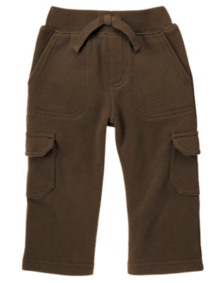 Toddler Boys Chocolate Brown Fleece Cargo Pant by Gymboree