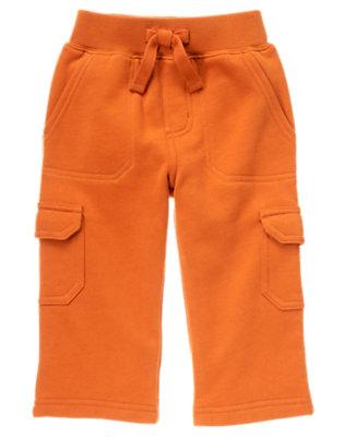 Orange Fleece Cargo Pant by Gymboree