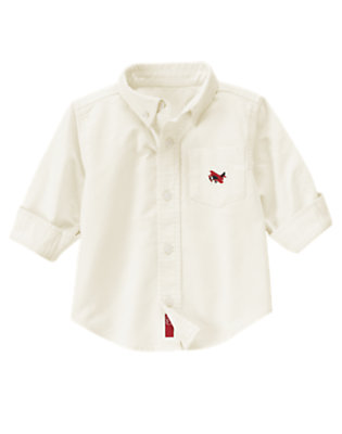 Ivory Airplane Oxford Shirt by Gymboree