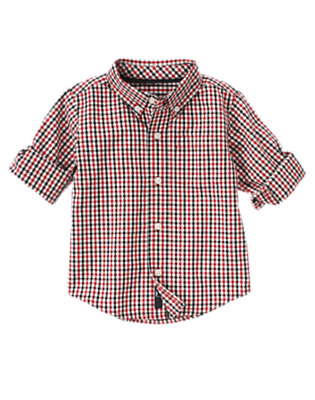 Holiday Red Check Checked Shirt by Gymboree