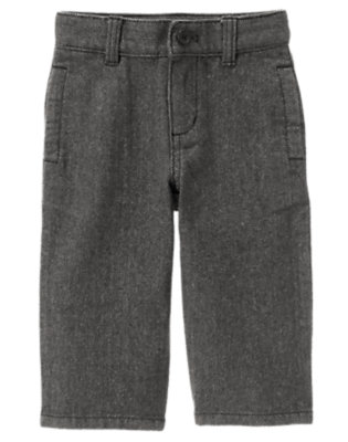 Toddler Boys Grey Herringbone Herringbone Pant by Gymboree