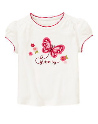 Ivory Flutter By Tee by Gymboree