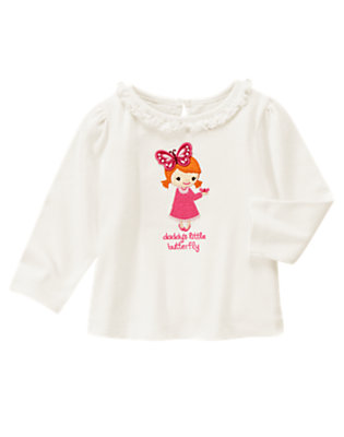 Ivory Daddy's Little Butterfly Winged Tee by Gymboree