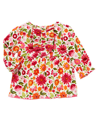 Ivory Floral Floral Butterfly Corduroy Top by Gymboree