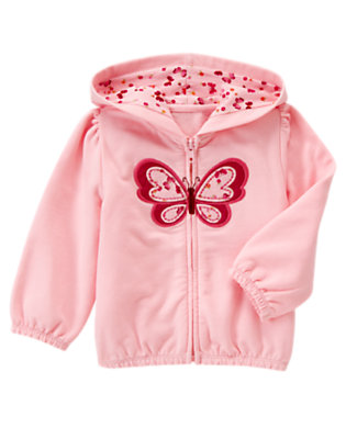 Toddler Girls Sweet Pink Butterfly Hoodie by Gymboree