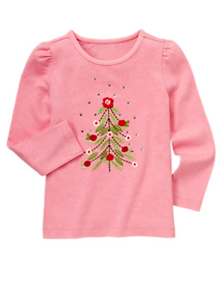 Heathered Rose Gem Flower Tree Tee by Gymboree