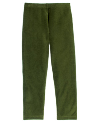 Girls Juniper Green Velour Legging by Gymboree