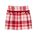 Bow Pleated Plaid Skort