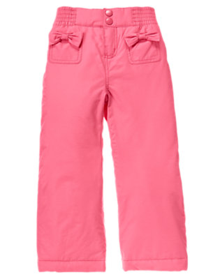 Cozy Pink Bow Pocket Snow Pant by Gymboree
