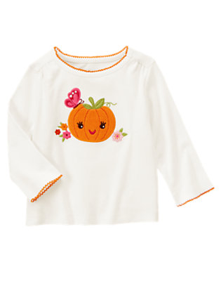 Ivory Pumpkin Butterfly Tee by Gymboree