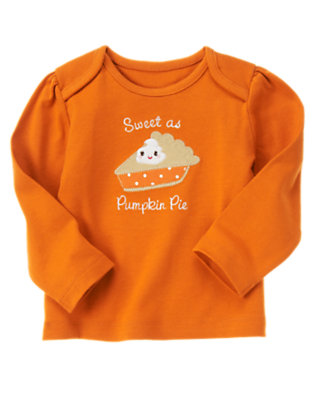 Pumpkin Orange Pumpkin Pie Tee by Gymboree