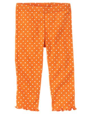 Pumpkin Orange Dot Dot Legging by Gymboree