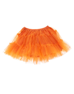 Toddler Girls Pumpkin Orange Tiered Tutu by Gymboree