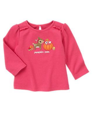 Autumn Pink Deer Pumpkin Pals Tee by Gymboree
