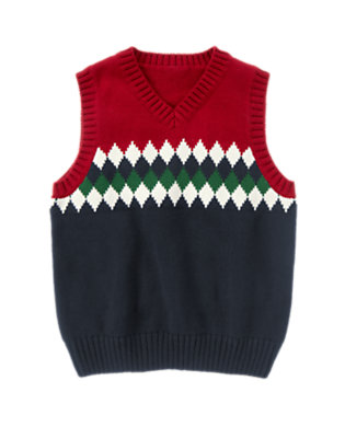 Holiday Red Diamond Sweater Vest by Gymboree
