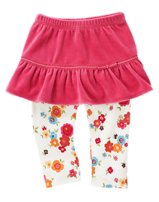 Autumn Pink Skirted Flower Legging by Gymboree
