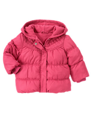 Toddler Girls Autumn Pink Hooded Puffer Jacket by Gymboree
