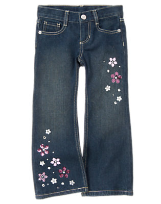 Denim Gem Sequin Snowflake Bootcut Jean by Gymboree