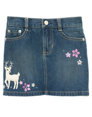 Denim Sequin Deer Jean Skort by Gymboree