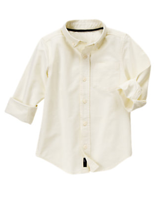 Boys Ivory Oxford Shirt by Gymboree