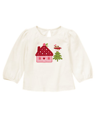 Winter Ivory Owl House Tee by Gymboree