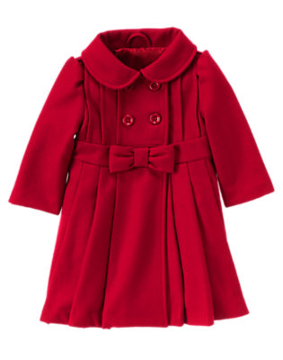 Holiday Red Bow Coat by Gymboree