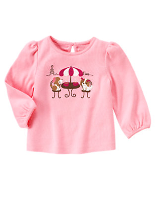 Poodle Pink Puppy Cafe Tee by Gymboree